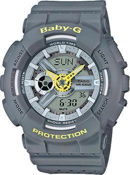 Японские наручные  женские часы Casio BA-110PP-8A. Коллекция Baby-G