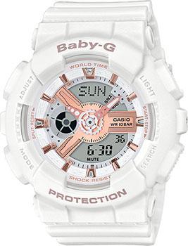 Японские наручные  женские часы Casio BA-110RG-7AER. Коллекция Baby-G