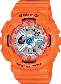 Японские наручные  женские часы Casio BA-110SN-4A. Коллекция Baby-G