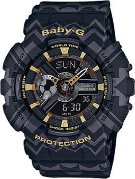 Японские наручные  женские часы Casio BA-110TP-1A. Коллекция Baby-G