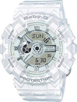 Японские наручные  женские часы Casio BA-110TP-7A. Коллекция Baby-G