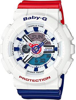 Японские наручные  женские часы Casio BA-110TR-7A. Коллекция Baby-G