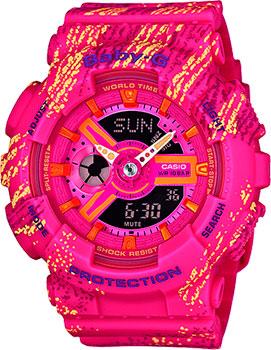 Японские наручные  женские часы Casio BA-110TX-4A. Коллекция Baby-G