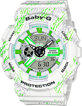 Японские наручные  женские часы Casio BA-110TX-7A. Коллекция Baby-G