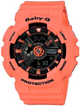 Японские наручные  женские часы Casio BA-111-4A2. Коллекция Baby-G