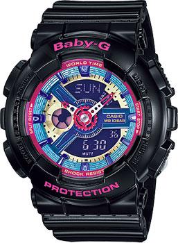 Японские наручные  женские часы Casio BA-112-1A. Коллекция Baby-G