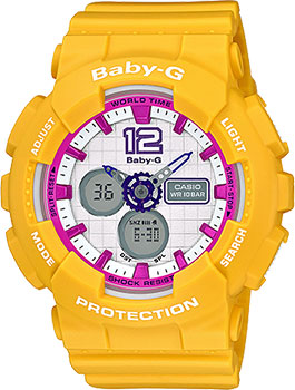Японские наручные  женские часы Casio BA-120-9B. Коллекция Baby-G