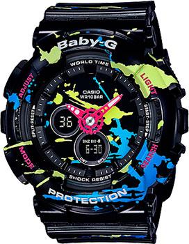 Японские наручные  женские часы Casio BA-120SPL-1A. Коллекция Baby-G