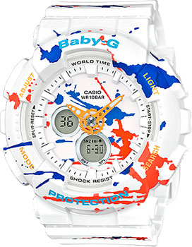 Японские наручные  женские часы Casio BA-120SPL-7A. Коллекция Baby-G