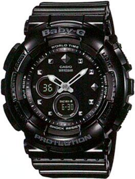 Японские наручные  женские часы Casio BA-125-1A. Коллекция Baby-G