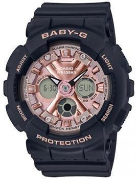 Японские наручные  женские часы Casio BA-130-1A4ER. Коллекция Baby-G