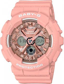 Японские наручные  женские часы Casio BA-130-4AER. Коллекция Baby-G