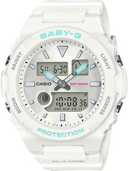Японские наручные  женские часы Casio BAX-100-7AER. Коллекция Baby-G