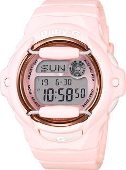 Японские наручные  женские часы Casio BG-169G-4B. Коллекция Baby-G