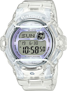 Японские наручные  женские часы Casio BG-169R-7E. Коллекция Baby-G