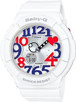 Японские наручные  женские часы Casio BGA-130TR-7B. Коллекция Baby-G