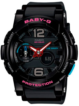 Японские наручные  женские часы Casio BGA-180-1B. Коллекция Baby-G