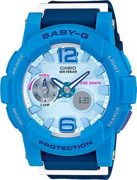 Японские наручные  женские часы Casio BGA-180-2B3. Коллекция Baby-G
