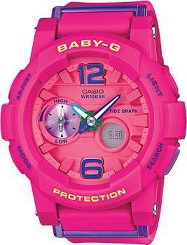 Японские наручные  женские часы Casio BGA-180-4B3. Коллекция Baby-G.