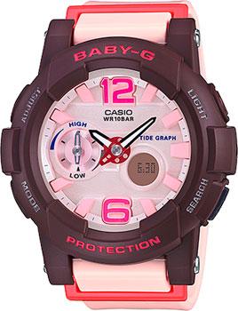 Японские наручные  женские часы Casio BGA-180-4B4. Коллекция Baby-G