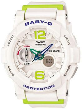 Купить Японские наручные женские часы Casio BGA-180-7B2. Коллекция Baby-G