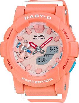 Японские наручные  женские часы Casio BGA-185-4A. Коллекция Baby-G