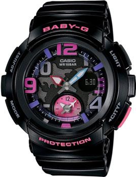 Японские наручные  женские часы Casio BGA-190-1B. Коллекция Baby-G
