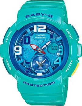 Японские наручные  женские часы Casio BGA-190-3B. Коллекция Baby-G