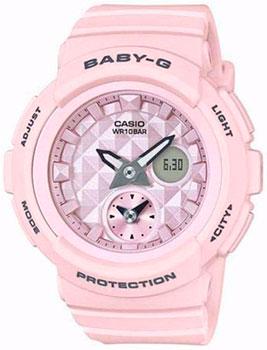 Японские наручные  женские часы Casio BGA-190BE-4A. Коллекция Baby-G