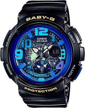 Японские наручные  женские часы Casio BGA-190GL-1B. Коллекция Baby-G