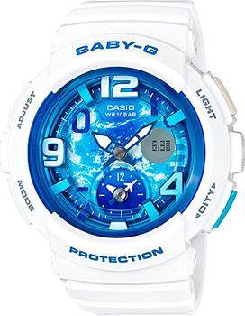 Японские наручные  женские часы Casio BGA-190GL-7B. Коллекция Baby-G