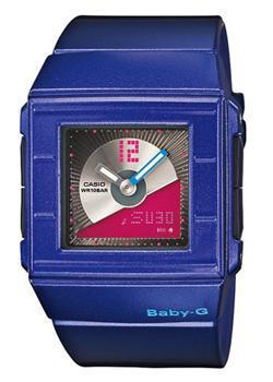 Японские наручные  женские часы Casio BGA-201-2E. Коллекция Baby-G