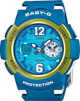 Японские наручные  женские часы Casio BGA-210-2B. Коллекция Baby-G