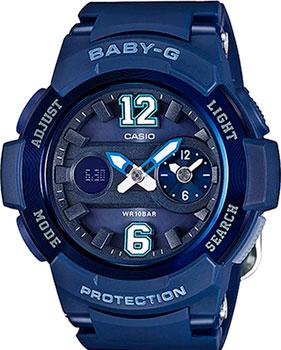 Японские наручные  женские часы Casio BGA-210-2B2. Коллекция Baby-G