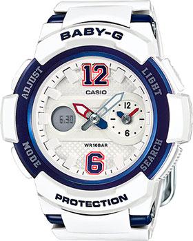 Японские наручные  женские часы Casio BGA-210-7B2. Коллекция Baby-G