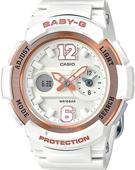 Японские наручные  женские часы Casio BGA-210-7B3. Коллекция Baby-G
