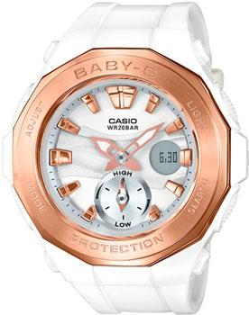 Японские наручные  женские часы Casio BGA-220G-7A. Коллекция Baby-G