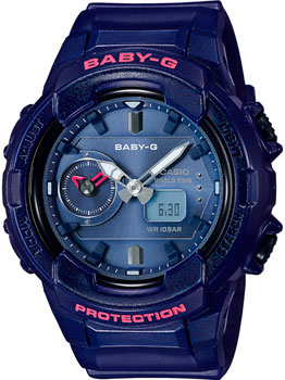 Японские наручные  женские часы Casio BGA-230S-2A. Коллекция Baby-G