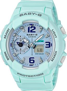 Японские наручные  женские часы Casio BGA-230SC-3B. Коллекция Baby-G