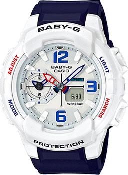Японские наручные  женские часы Casio BGA-230SC-7B. Коллекция Baby-G