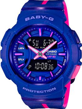 Японские наручные  женские часы Casio BGA-240L-2A1. Коллекция Baby-G