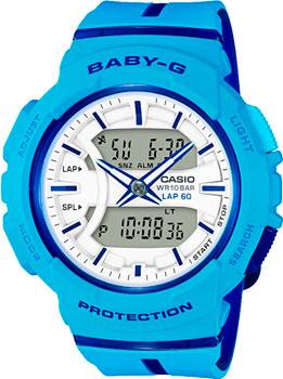 Японские наручные  женские часы Casio BGA-240L-2A2. Коллекция Baby-G