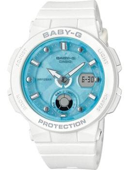 Японские наручные  женские часы Casio BGA-250-7A1. Коллекция Baby-G