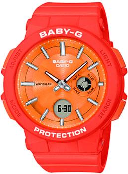 Японские наручные  женские часы Casio BGA-255-4AER. Коллекция Baby-G