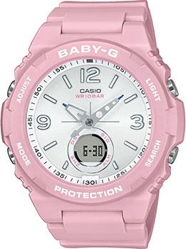 Японские наручные  женские часы Casio BGA-260SC-4AER. Коллекция Baby-G