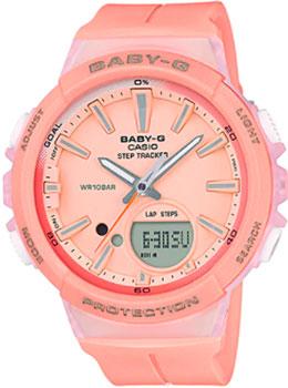 Японские наручные  женские часы Casio BGS-100-4A. Коллекция Baby-G