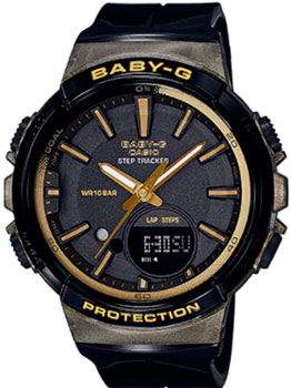 Японские наручные  женские часы Casio BGS-100GS-1A. Коллекция Baby-G