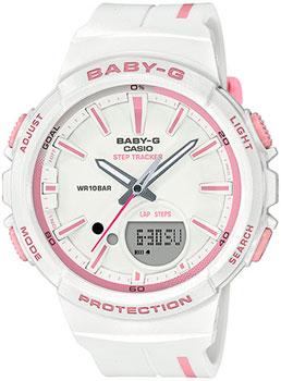 Японские наручные  женские часы Casio BGS-100RT-7A. Коллекция Baby-G