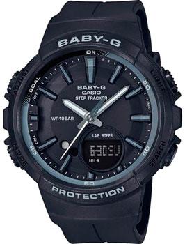 Японские наручные  женские часы Casio BGS-100SC-1A. Коллекция Baby-G