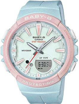 Японские наручные  женские часы Casio BGS-100SC-2A. Коллекция Baby-G